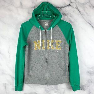 Women's Nike Colorblock Zipper Sweatshirt Hoodie S